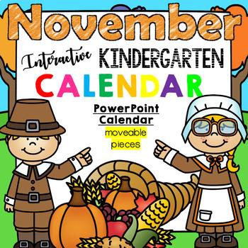 Kindergarten Interactive Calendar (NOVEMBER) - for Prometh