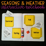 Kindergarten Interactive Science Notebook {Theme: Seasons
