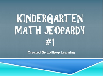 Kindergarten Jeopardy Math #1