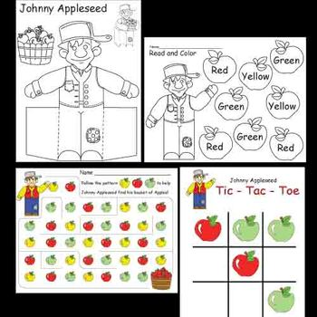 Kindergarten Johnny Appleseed Package