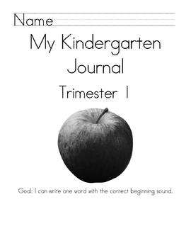 Kindergarten Journal Covers-Trimesters
