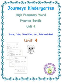Kindergarten Journeys (2014) Sight Word Practice Unit 4