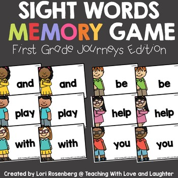 Sight Word Memory {Compatible With First Grade Journeys}