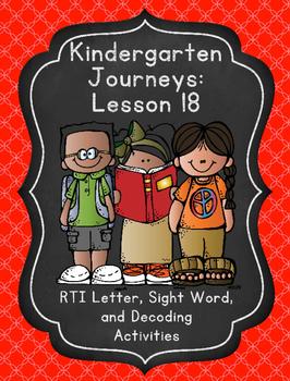 Kindergarten Journeys Lesson 18 RTI Letter, Sight Word, an