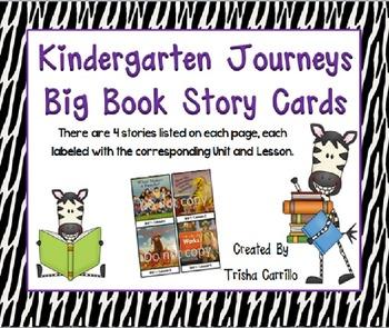 Kindergarten Journeys Reading Focus Wall Big Book Story Cards