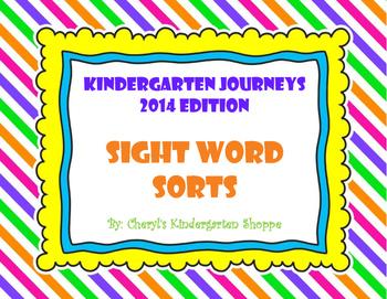 Kindergarten Journeys Sight Word Sorts