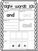 Kindergarten Sight Words Journeys Unit 1