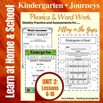 Kindergarten: Journeys-Unit 2....Filling in the Gaps with