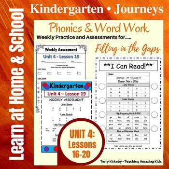 Kindergarten: Journeys-Unit 4....Filling in the Gaps with