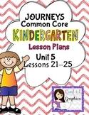 Kindergarten K Lesson Plans Journeys Common Core Unit 5 Le
