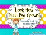 Kindergarten Keepsake Book with Samples from Beginning and