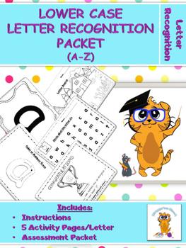 Kittygarten Kinect No Prep - Lower Case Letter Recognition Packet