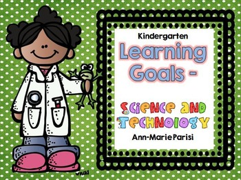 Kindergarten Learning Goals Science and Technology