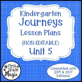 Kindergarten Lesson Plans Journeys Unit 5