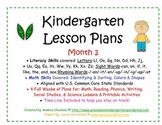 Kindergarten Lesson Plans - Month 2 - Common Core Aligned -GBK