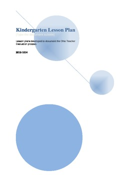 Kindergarten Lesson Plans- extended edition