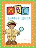 Kindergarten Letter Hunt- Read & Write the Room