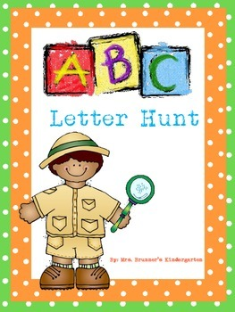 Kindergarten Letter Hunt- Read & Write the Room