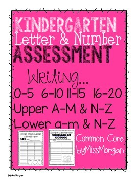 Kindergarten Letter and Number Assessment