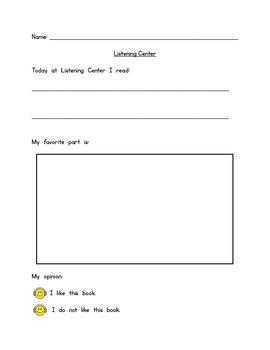Literacy Centers - Listening Center