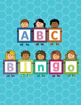 Kindergarten Literacy Center - Alphabet Bingo - Letter Rec