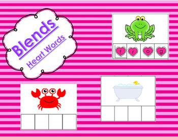 Kindergarten Literacy Center - Build a Blend - Heart Editi