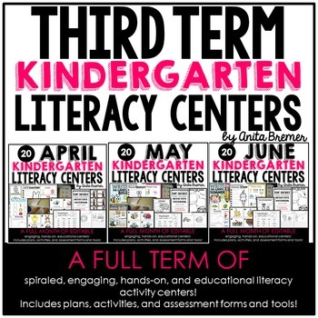 Kindergarten Literacy Centers {April-June}