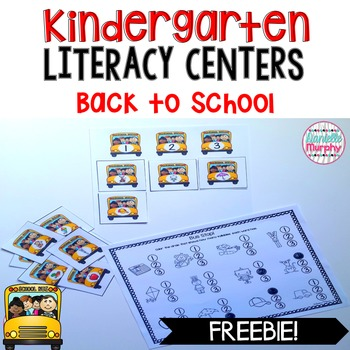 Literacy Centers August and September FREEBIE--Kindergarten
