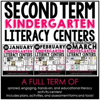 Kindergarten Literacy Centers {January-March}