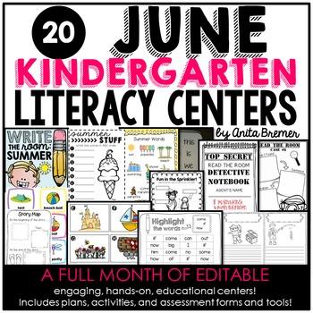 Kindergarten Literacy Centers {June}