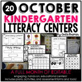 Kindergarten Literacy Centers {October}