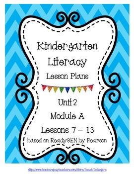 Literacy Lesson Plans for ReadyGEN Kindergarten Unit 2 A,