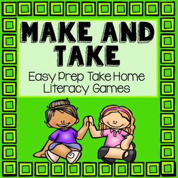 Kindergarten Literacy Take Home Games