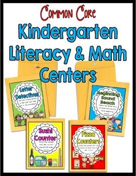 Kindergarten Literacy and Math Center Activities