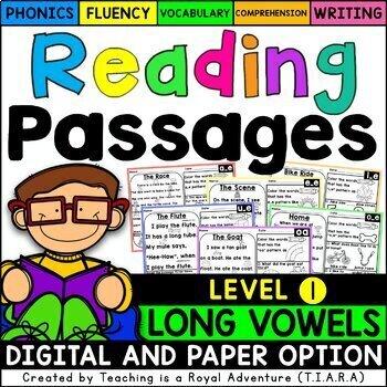 Kindergarten Long Vowel Reading Passages