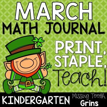 Math Journal March (Kindergarten)