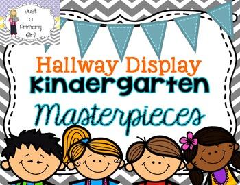 Kindergarten Masterpieces Chevron Bunting Hallway Display