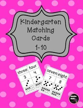 Kindergarten Matching Cards