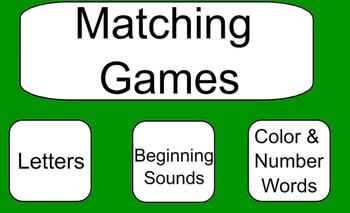 Kindergarten Matching Games - SMART Notebook