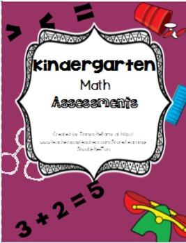 Kindergarten Math Assessments