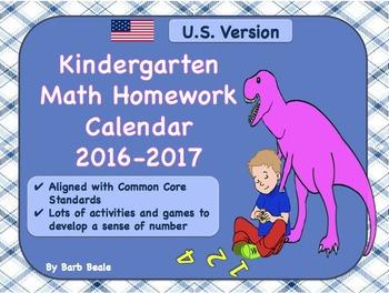 Kindergarten Math - At Home Activities - U.S. 2016-2017 -