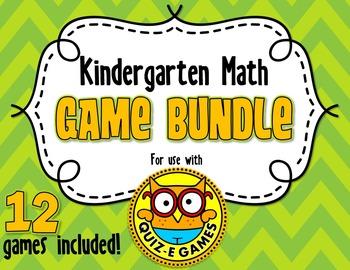 Kindergarten Math Bundle for Quiz-E Games