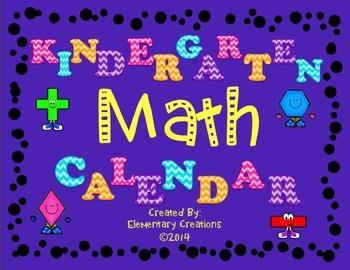 Kindergarten Math Calendar