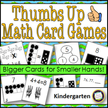 Kindergarten Math Card Games ~ Thumbs Up or Thumbs Down?