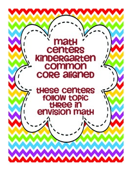 Kindergarten Envision Math Topic Three Centers