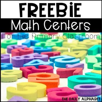 Kindergarten Math Centers FREEBIE