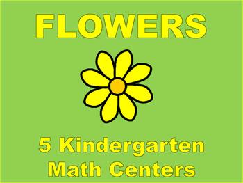 Kindergarten Math Centers: Flowers