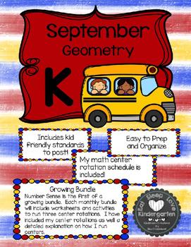 Kindergarten Math Centers Made Easy-September Shapes