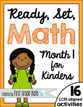 Kindergarten Math Centers for Month 1