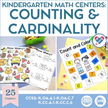 Kindergarten Math Centers Number Sense